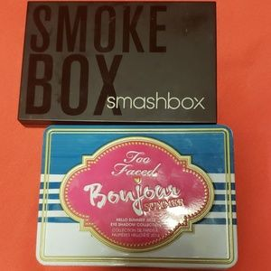 Too Faced Makeup - Gently used smashbox + too faced eyeshadow palette